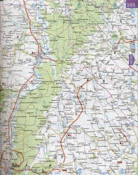 Карта Тамбовской области.