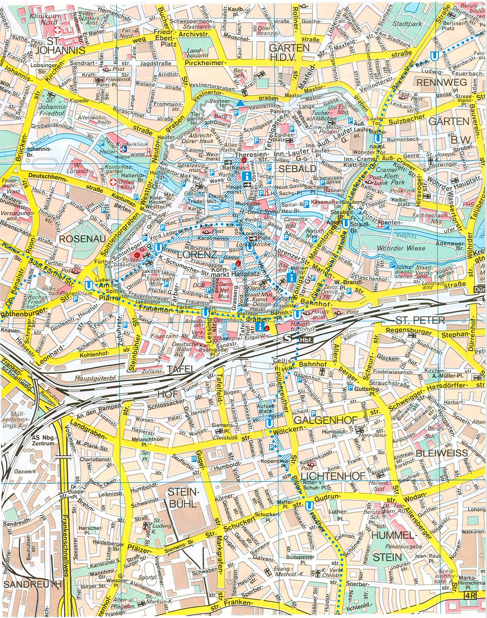 ... города Нюрнберг, карта масштаба 1см:120м: map-auto.ru/map320737_0_0.htm