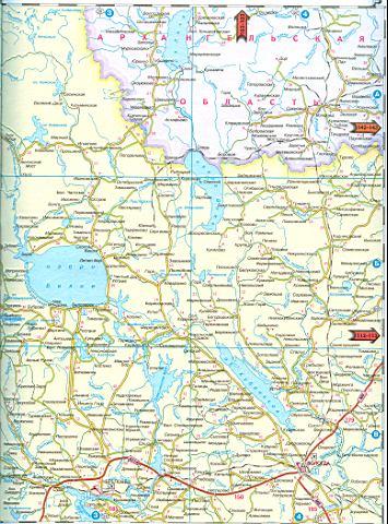 Карта вологодской обл масштаба 1см 11км