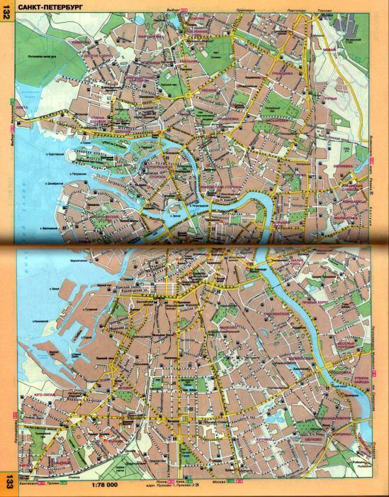 Карта санкт петербурга автомобильная