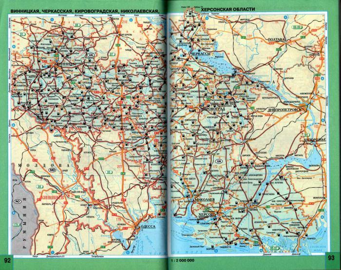 Украина - карта схема