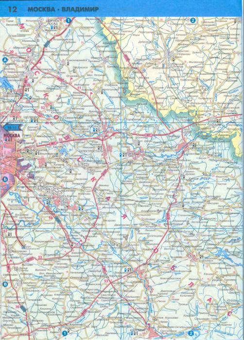 Карта московской области 1см 5км карта