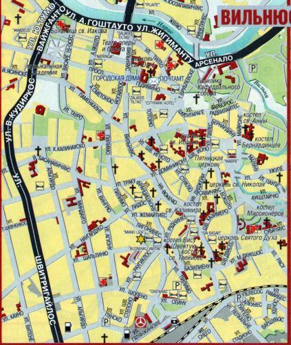 Вильнюс, Фото Вильнюс, Карта
