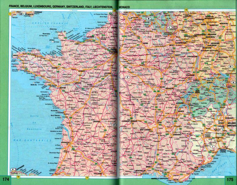 Франция карта схема дорог.