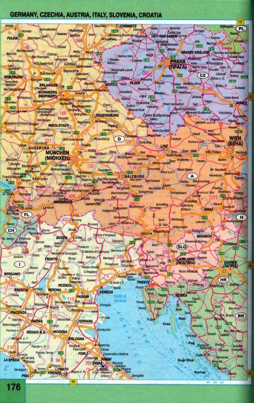 Карта авто дорог автомобильная карта