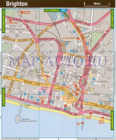 Англия карта брайтона карта улиц