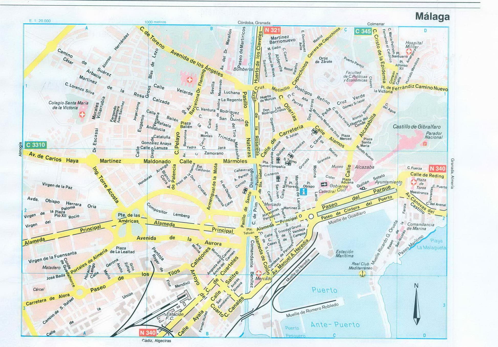 Испания, карта Малаги. Карта улиц города Малага, Испания ...: http://map-auto.ru/map893717_0_0.htm